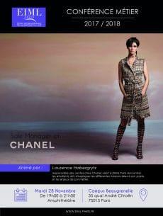 Conférence métier animé par la responsable des ventes chez Chanel