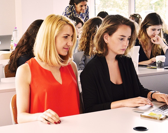 Les étudiants en conférence