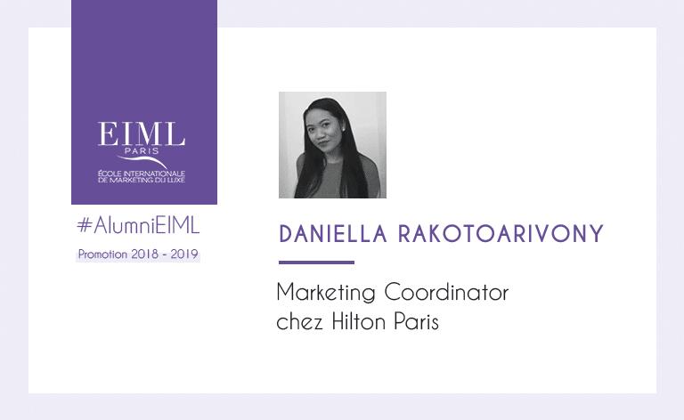 Daniella Rakotoarivony, alumni EIML Paris