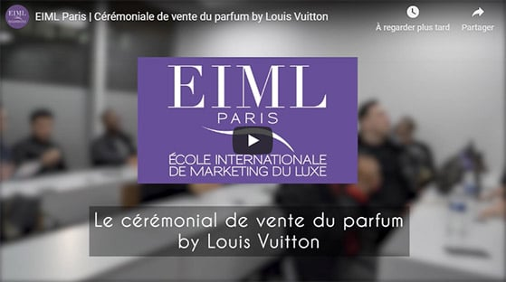 Le cérémonial de vente du parfum by Louis Vuitton