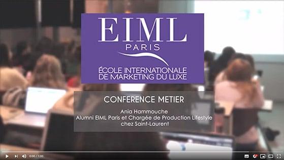Conférence Métier - Ania Hammouche Alumni EIML Paris et Chargée de Production Lifestyle chez Saint-Laurent